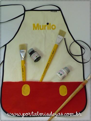 Avental de Artes - Mickey by miudezas_miudezas