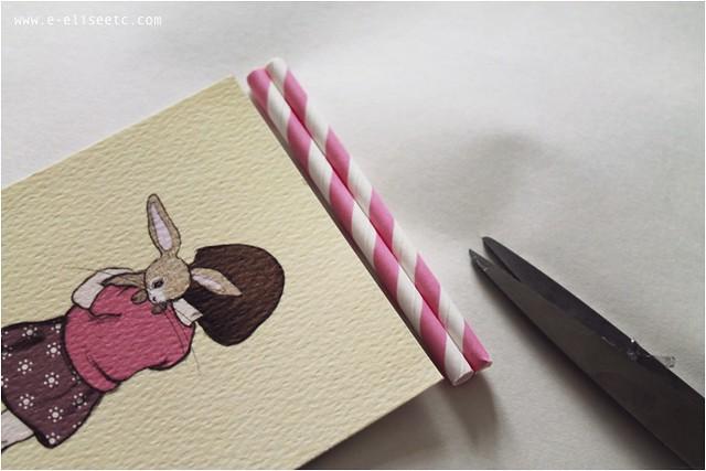 diy paper straw frame 3