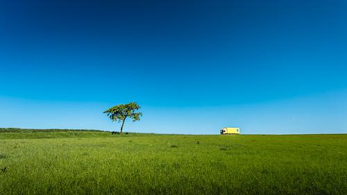 blue tree green field truck landscape photography countryside photo skåne europe photographer image fav50 sweden may bluesky fav20 photograph 100 sverige scandinavia greenfield fav30 f71 17mm skane fav10 ef1740mmf4lusm 2013 fav40 fav60 ¹⁄₂₀₀sec eos5dmarkiii mabrycampbell may312013 201305310h6a2665