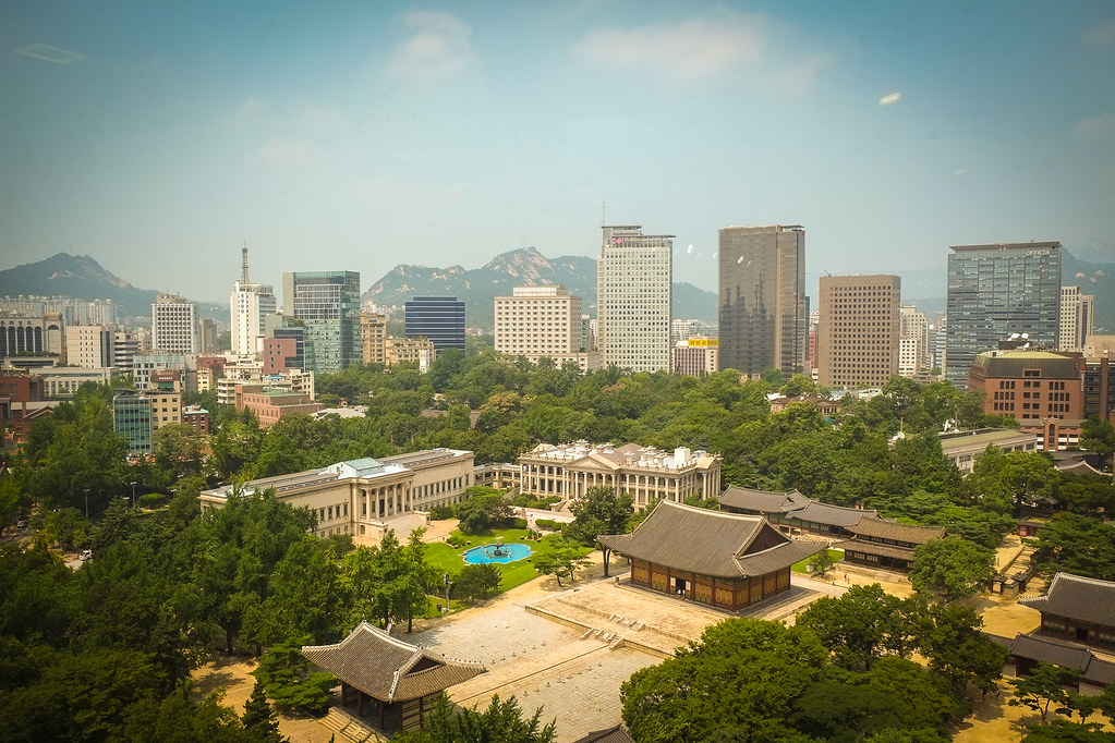 Seoul from the Jeong-dong Observatory