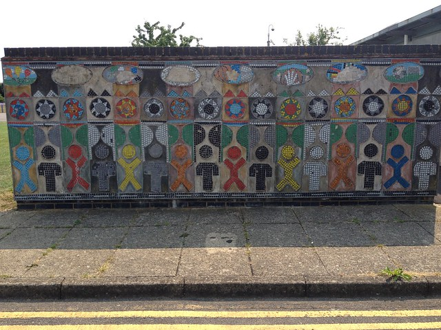 Meadows Community Centre mosaic wall