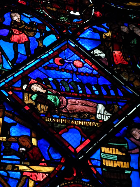 Joseph's Dream (note the wheat-stalks), St. Etienne de Bourges