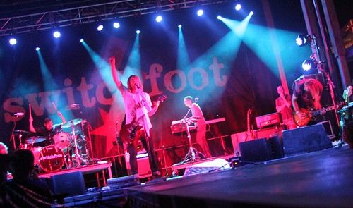 Switchfoot on stage at Rock the World