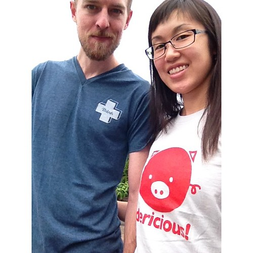 Dericious in Whistler!!! (Our new shirts from Richmond Night Market)