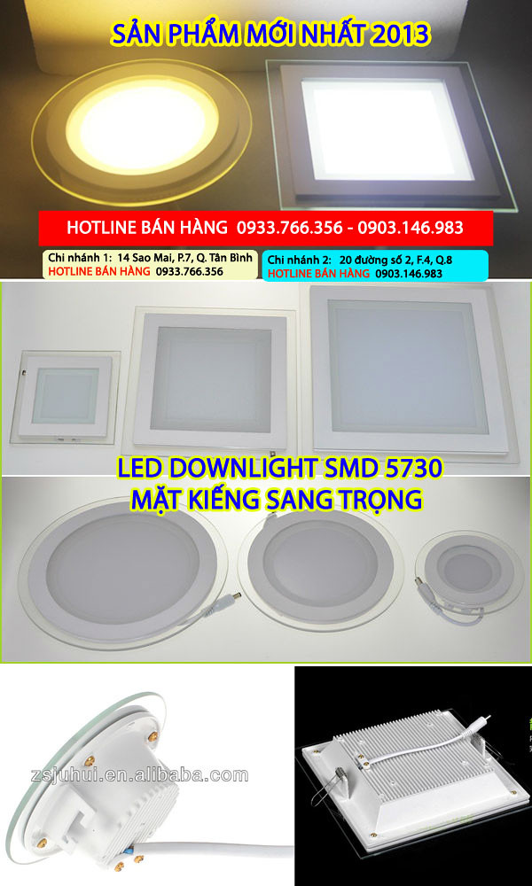 Bán đèn led downlight, 5W, 3W, 7W, 9W, 12W giá rẻ nhất 2013