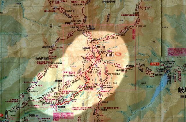 白山の地図