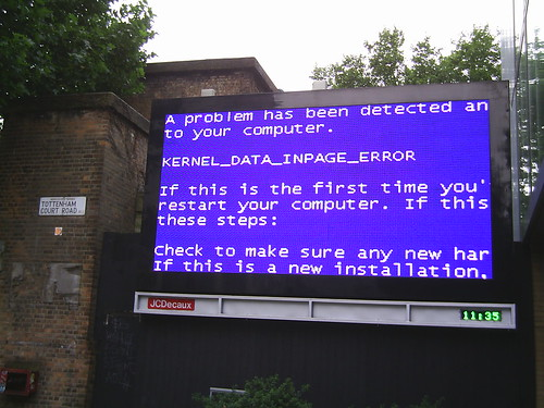 Blue Screen of Death, London, 14 September 2013