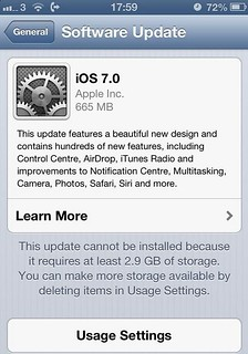 обновление iOS 7