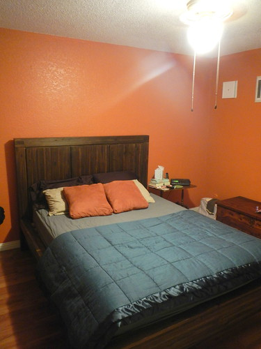 my orange bedroom