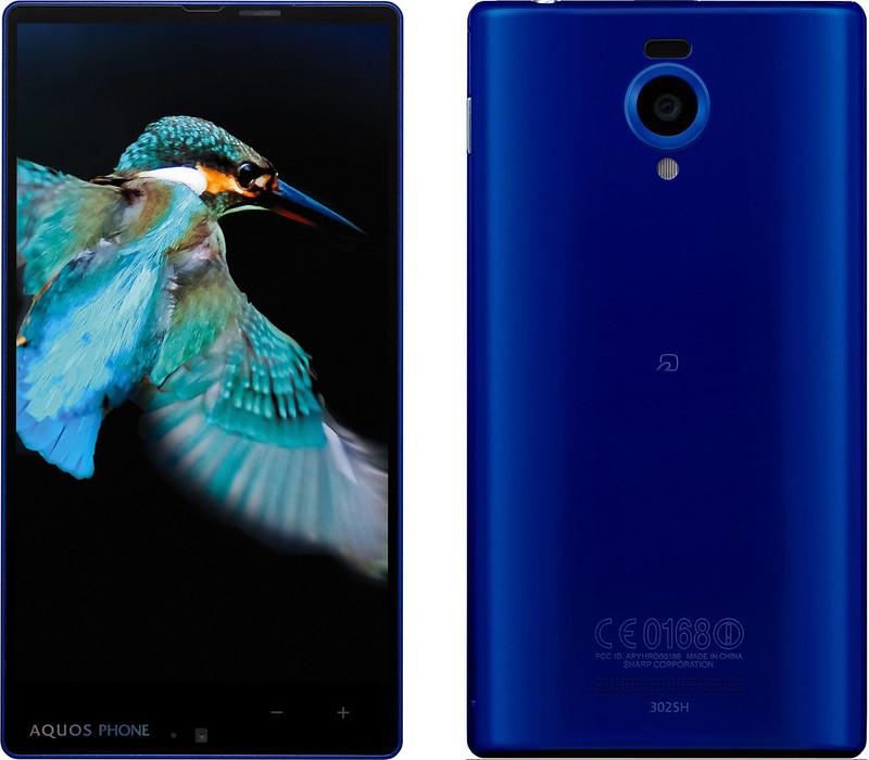 AQUOS PHONE Xx 302SH 実物大の製品画像