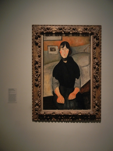DSCN7922 _ Young Woman of the People, 1918, Amedeo Modigliani (1884-1920), LACMA