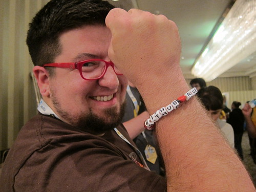 Tim with Rust bracelet
