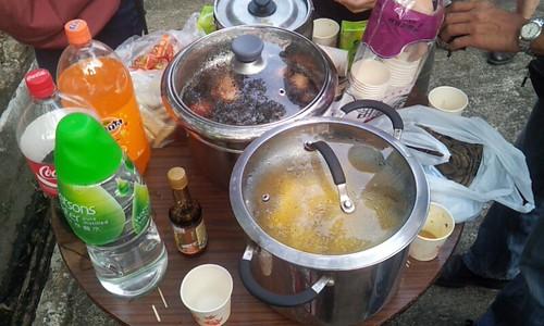 村民自備的小食和飲料