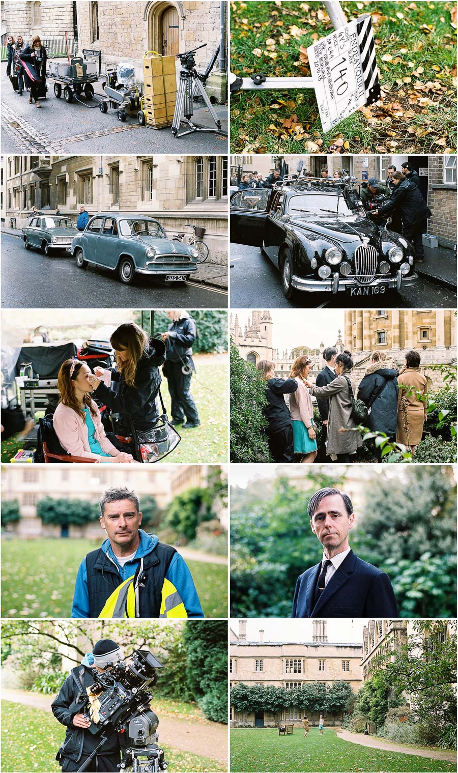behind the scenes of Endeavour series 2 filming in oxford