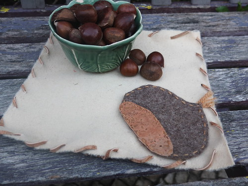 Chestnut table decoration