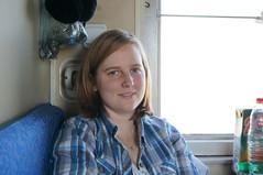 Annemarie on the Trans-Mongolian Railway