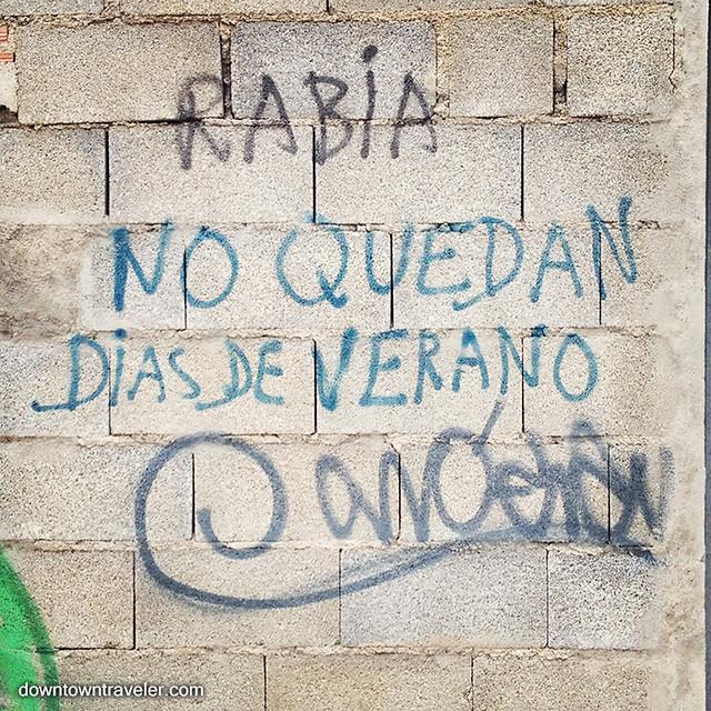 Dias de verano graffiti nerja spain