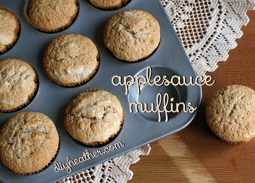 Applesauce Muffins by Digital Heather