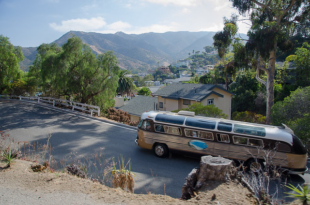 Catalina Island tour bus