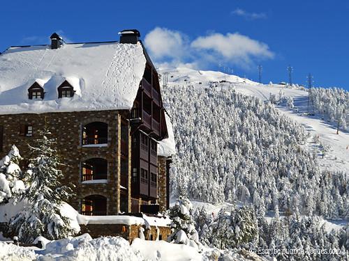 Casa nevada a pie de pistas, en Baqueira Beret