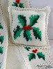 Festive Hollies Afghan and Pillow Pattern PA283