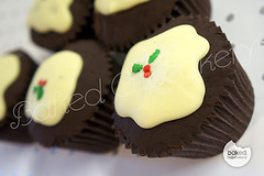 Christmas Pudding Cupcakes