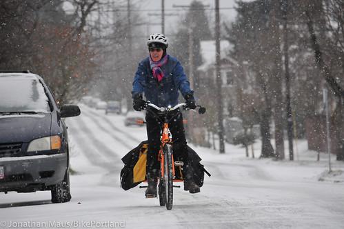 Snow scenes in Portland-5