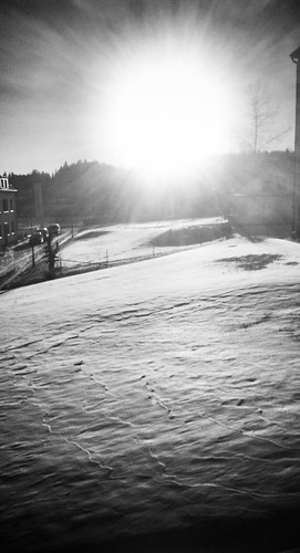 sun snow sweden
