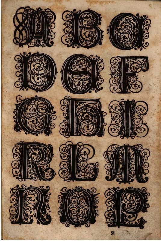 Paulus Franck - 'Schatzkammer Allerhand Versalien Lateinisch vnnd Teutsch', 1601 alphabet
