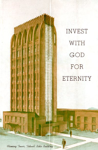 Tidwell Bible Building promotional brochure, late 1940s-early 1950s