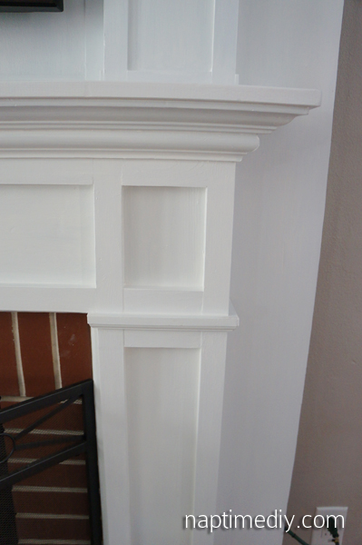 Fireplace Mantel Build 8 (via NaptimeDIY.com)