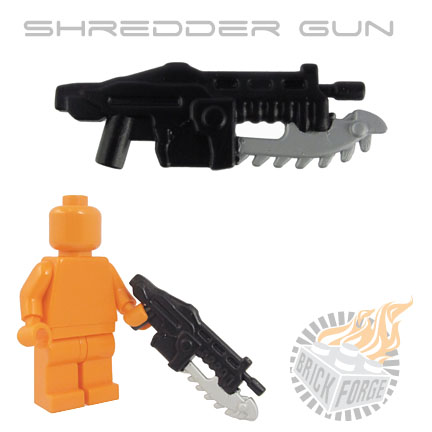 Shredder Gun - Black (silver blade print)