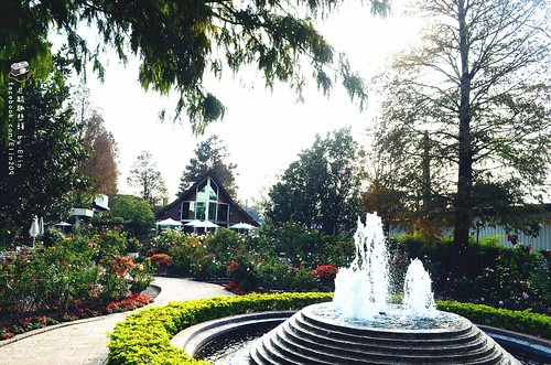 门口的喷泉彷佛魔法精灵引您走入庄园图片