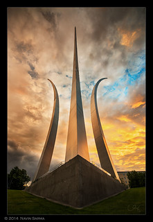 Dramatic Sunset at the Air Force Memorial