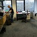 Unpacking in the new Amsterdam office