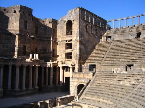 Foto del teatro de Bosra (Siria)