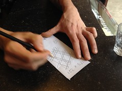 Rob demoing Japanese multiplication method