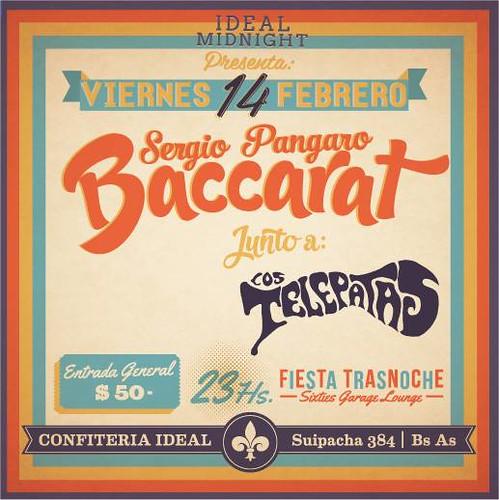 Sergio Pángaro Baccarat en la Confitería Ideal