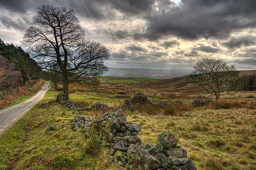 valley fell hdr pendle clitheroe grindleton ribble