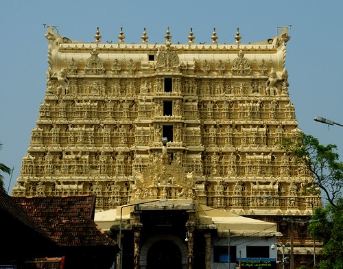 "Padmanabhaswamy temple from the book ""Esperimento con l'India (1975)"" by Giorgio Manganelli"