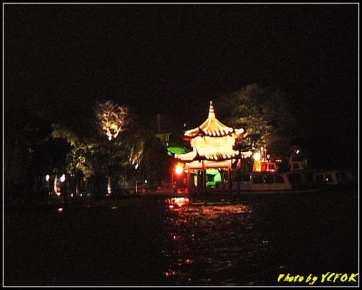 杭州 西湖 (其他景點) - 324 (在西湖十景之 柳浪聞鶯 (近古湧金門) 看西湖湖濱路及西湖畔夜景)