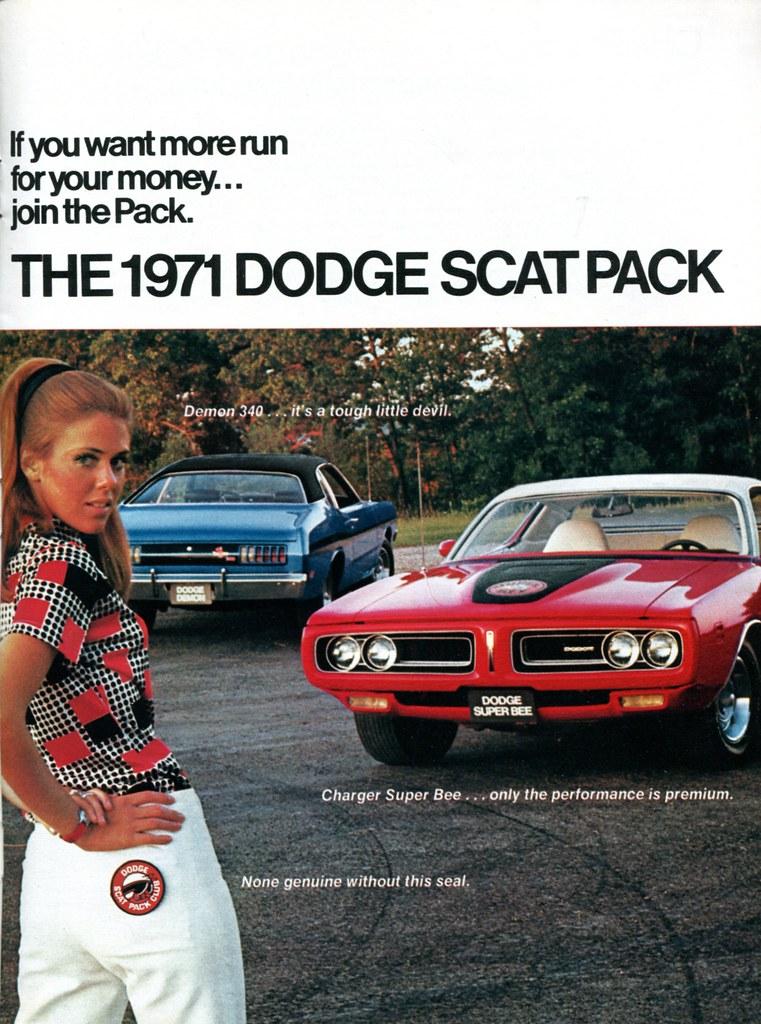 1971 Dodge Scat Pack Demon 340 Super Bee Advertisement Car Craft Magazine October 1970