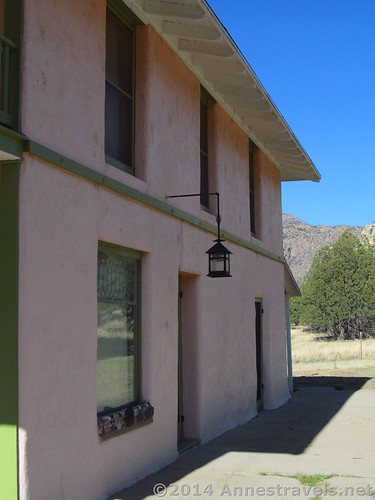 A lamp on the side of the ranch house, Faraway Ranch, Chiricahua National Monument, Arizona