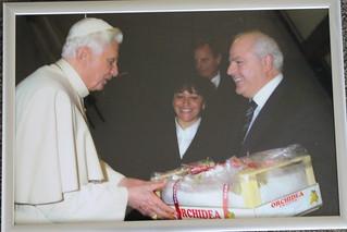 Nicola Giuliano all'incontro con l'ex Papa Benedetto XVI