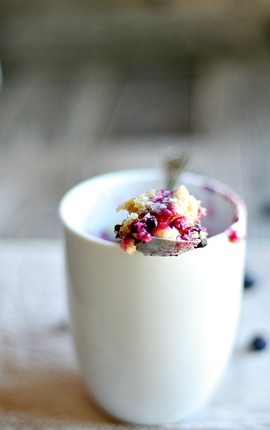 Single Serving Blueberry Muffin in a Mug
