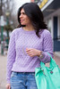 lavender sweater, boyfriend jeans, mint bag-6.jpg by LyddieGal