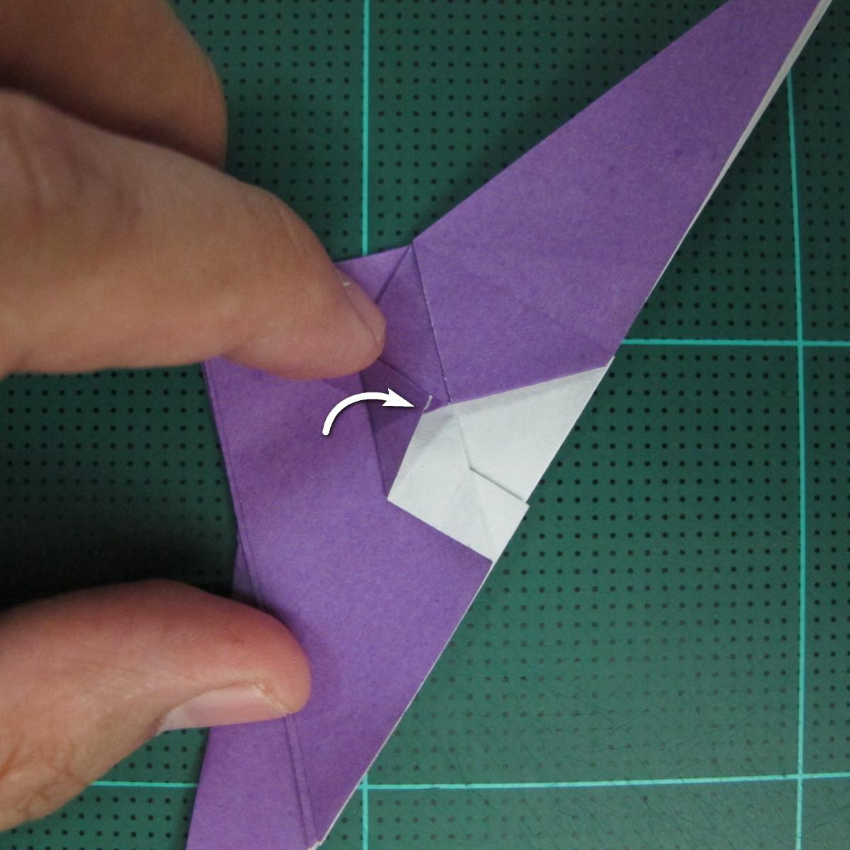 วิธีพับกระดาษเป็นรูปนกอินทรี (Origami Eagle) 009