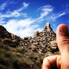 "Tom's Thumb... got there via East End Bell Pass... man, that's a lot of climbing for a 13 mile ""run."""