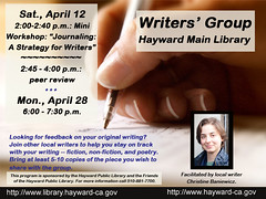 Peer Writers' Group at the Hayward Main Library