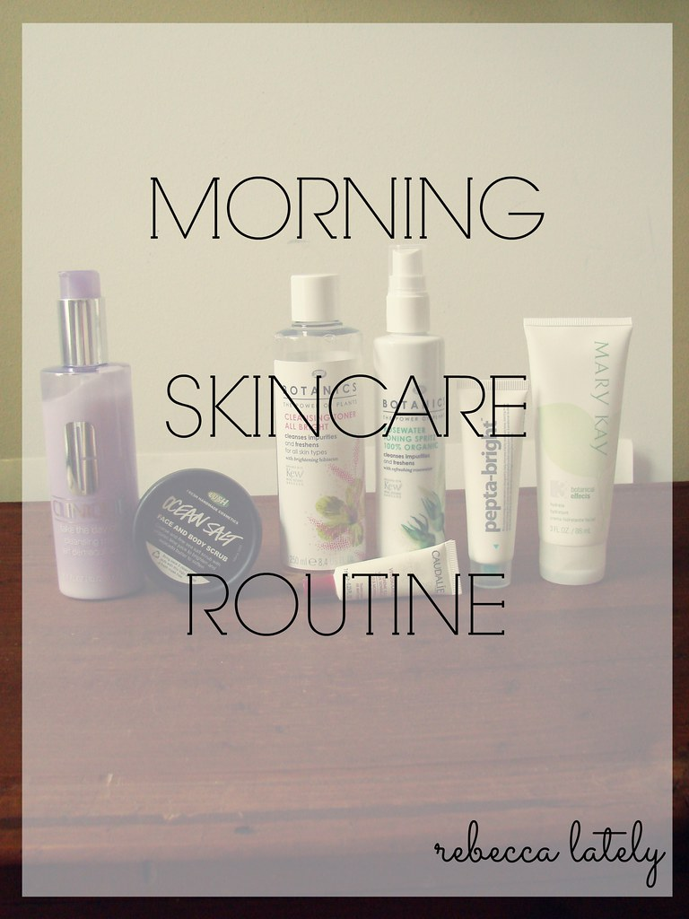 Morning Skincare Routine 1